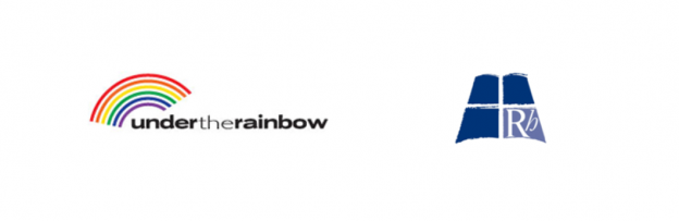 Under the Rainbow Banner with RH Logo